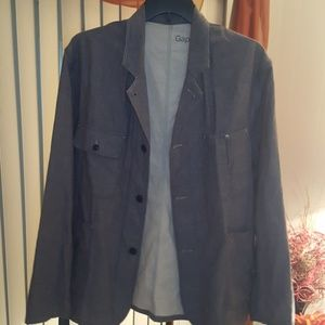 GAP 3 Button Lined 1969 Jacket Shirt-XXL